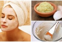 garlic mask to rejuvenate the face