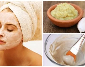 garlic mask to rejuvenate the face