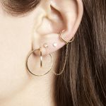 Tiny Diamond Ear Cuff Chain Earring